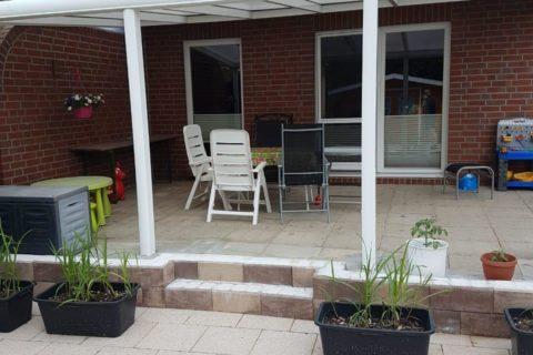 Terrassenüberdachung aus Sicherheitsglas