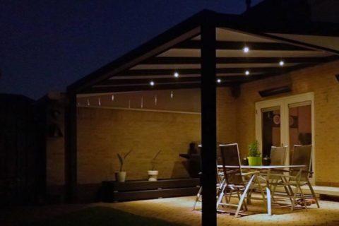 LED Terrassenüberdachung